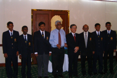With the Sri Lanakan Team to the International Olympiad in Informatics IOI in 2004 together with Manager and Deputy Manager. CEO of Sri Lanka Telecom that sponsored the team is also in the picture