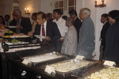 Dinner following the Felicitation Ceremony. l-r Prof. Samaranayake, Dr. P.R. Anthonis, Visharada Amaradewa, Prof. J. B. Dissanayake