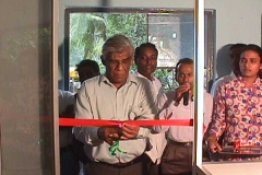 The opening of the first Telecentre in Sri Lanka at Kahawatte Sarvodaya Centre. Prof. Samaranayake inaugurating the Telecentre