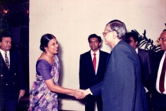 Nayeni Welcoming Professor G.L. Peiris, Minister of Foreign Affairs