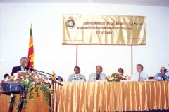 At the Commissioning of the Sida funded Academic and Research Network (LEARN) infrastructure project coordinated by Prof. .Samaranayake. l-r Prof. Samaranayake, Director UCSC, Prof. Arjuna Aluwihare,Chairman, UGC, Dr. Afzal Sher of Sida, Hon. Indika Gunewardena, Minister of Higher Education and IT, H.E. Masden, Charge 'Affairs,Embassy of Sweden and Dr. Arthur C. Clarke.