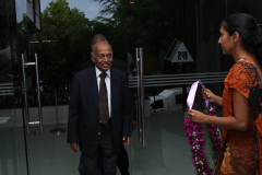 Greeting the Chief Guest, Prof. KKYW Perera